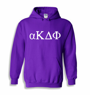 alpha Kappa Delta Phi Greek lettered Hoodie