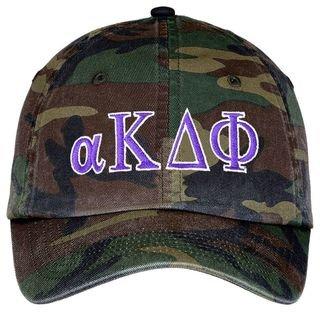 alpha Kappa Delta Phi Lettered Camouflage Hat