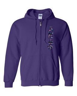 "Alpha Kappa Delta Phi Lettered Heavy Full-Zip Hooded Sweatshirt (3"" Letters)"
