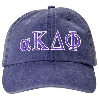 alpha Kappa Delta Phi Lettered Premium Pastel Hat