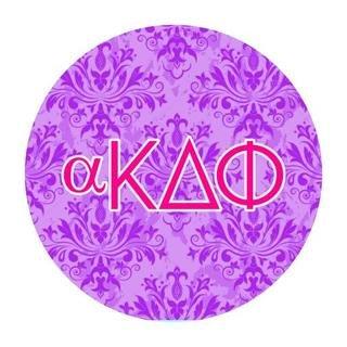 alpha Kappa Delta Phi Round Decals