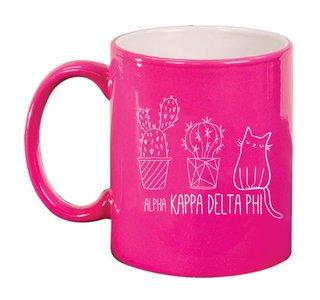 alpha Kappa Delta Phi Purrrfect Sorority Coffee Mug