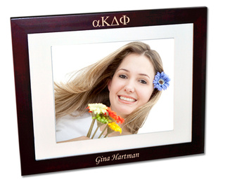 alpha Kappa Delta Phi Rosewood Picture Frame