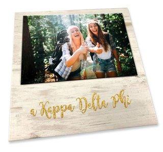 Alpha Kappa Delta Phi Sorority Golden Block Frame