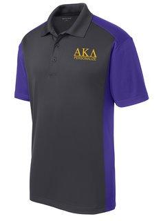 Alpha Kappa Lambda- $30 World Famous Greek Colorblock Wicking Polo