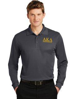Alpha Kappa Lambda- $30 World Famous Long Sleeve Dry Fit Polo
