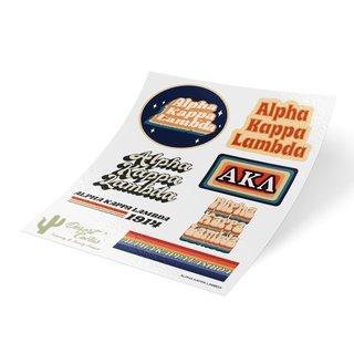 Alpha Kappa Lambda 70's Sticker Sheet