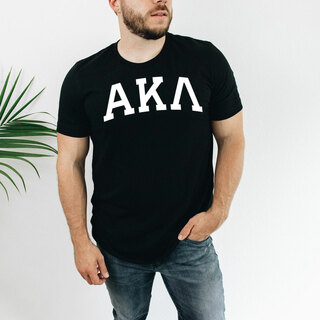 Alpha Kappa Lambda Arched Greek Letter T-Shirt