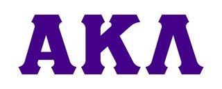 Alpha Kappa Lambda Big Greek Letter Window Sticker Decal