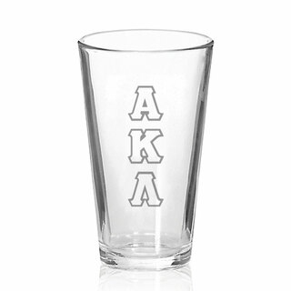 Alpha Kappa Lambda Big Letter Mixing Glass