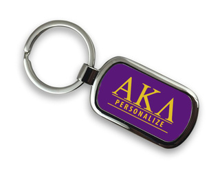 Alpha Kappa Lambda Chrome Custom Keychain