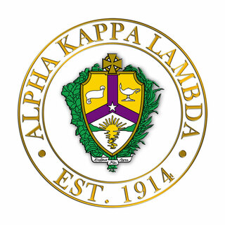 Alpha Kappa Lambda Circle Crest - Shield Decal