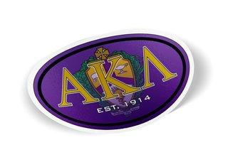 Alpha Kappa Lambda Color Oval Decal