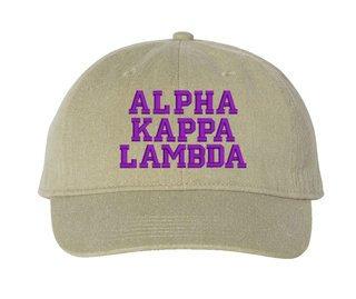 Alpha Kappa Lambda Comfort Colors Pigment Dyed Baseball Cap