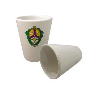 Alpha Kappa Lambda Crest Ceramic Collectors Glass