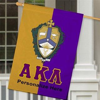 Alpha Kappa Lambda Crest House Flag