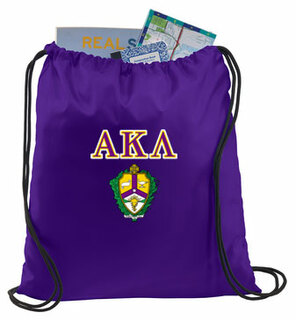 Alpha Kappa Lambda Crest - Shield Cinch Sack