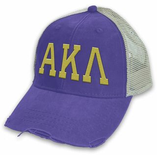Alpha Kappa Lambda Distressed Trucker Hat