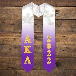 Alpha Kappa Lambda Extra Fancy Greek Graduation Stole W Year