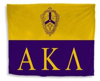 Alpha Kappa Lambda Flag Giant Velveteen Blanket
