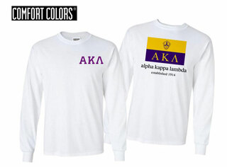 Alpha Kappa Lambda Flag Long Sleeve T-shirt - Comfort Colors