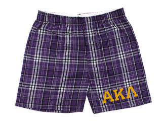 Alpha Kappa Lambda Flannel Boxer Shorts