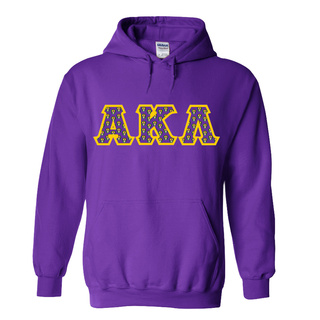 Alpha Kappa Lambda Fraternity Crest - Shield Twill Letter Hooded Sweatshirt