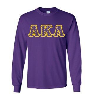 Alpha Kappa Lambda Fraternity Crest - Shield Twill Letter Longsleeve Tee