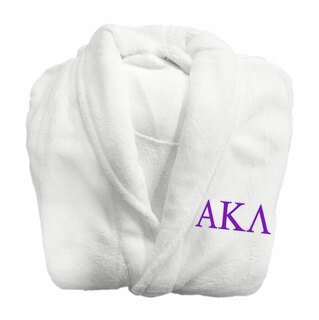 Alpha Kappa Lambda Fraternity Lettered Bathrobe