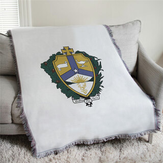 Alpha Kappa Lambda Full Color Crest Afghan Blanket Throw