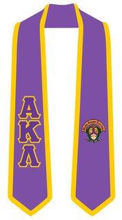 Alpha Kappa Lambda Greek 2 Tone Lettered Graduation Sash Stole