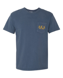 Alpha Kappa Lambda Greek Letter Comfort Colors Pocket Tee