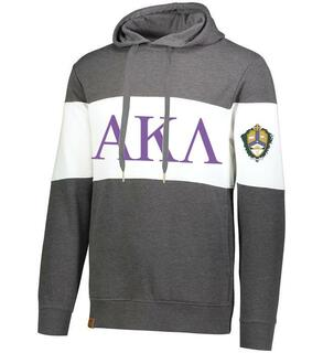 Alpha Kappa Lambda Ivy League Hoodie W Crest On Left Sleeve