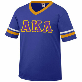 DISCOUNT-Alpha Kappa Lambda Jersey With Greek Applique Letters