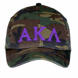 Alpha Kappa Lambda Lettered Camouflage Hat