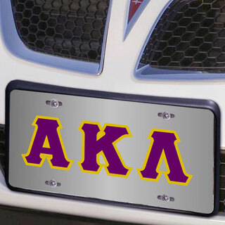 Alpha Kappa Lambda Lettered License Cover