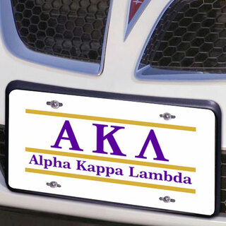 Alpha Kappa Lambda Lettered Lines License Cover