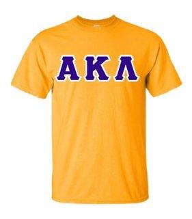 Alpha Kappa Lambda Sewn Lettered Shirts