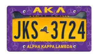 Alpha Kappa Lambda License Plate Frame