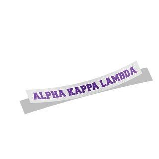 Alpha Kappa Lambda Long Window Sticker