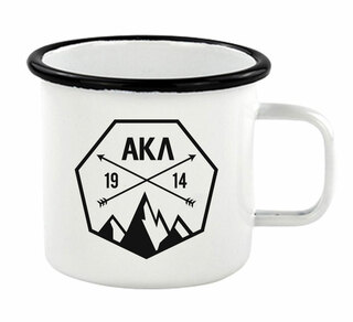 Alpha Kappa Lambda Metal Camping Mug