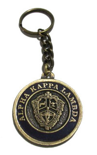 Alpha Kappa Lambda Metal Fraternity Key Chain