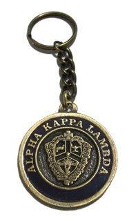 Alpha Kappa Lambda Metal Fraternity Key Chain