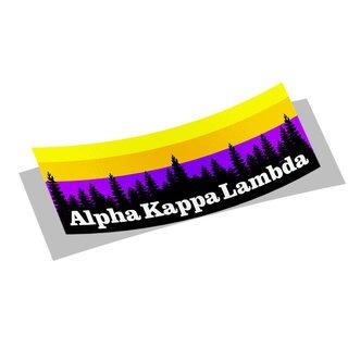 Alpha Kappa Lambda Mountain Decal Sticker
