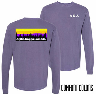 Alpha Kappa Lambda Outdoor Long Sleeve T-shirt - Comfort Colors