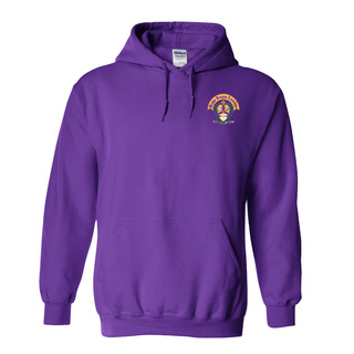 DISCOUNT-Alpha Kappa Lambda Crest - Shield Emblem Hooded Sweatshirt