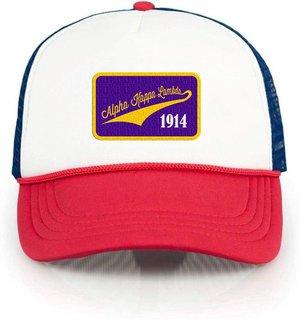 Alpha Kappa Lambda Red, White & Blue Trucker Hat