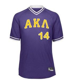 Alpha Kappa Lambda Retro V-Neck Baseball Jersey