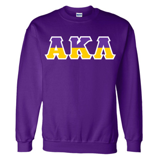 Alpha Kappa Lambda Two Tone Greek Lettered Crewneck Sweatshirt