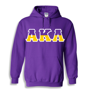 Alpha Kappa Lambda Two Tone Greek Lettered Hooded Sweatshirt